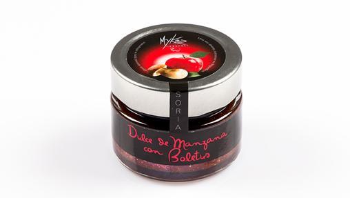 Dulce de manzana roja con boletus de Mykés Gourmet