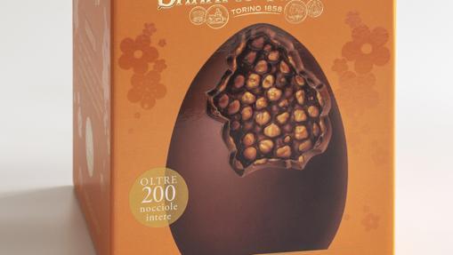 El huevo Nocciolato de Baratti&Milano con avellanas de Piamonte y chocolate gianduja (45 euros)