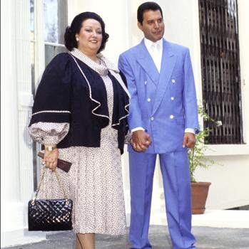 Together with Montserrat Caballé in 1986