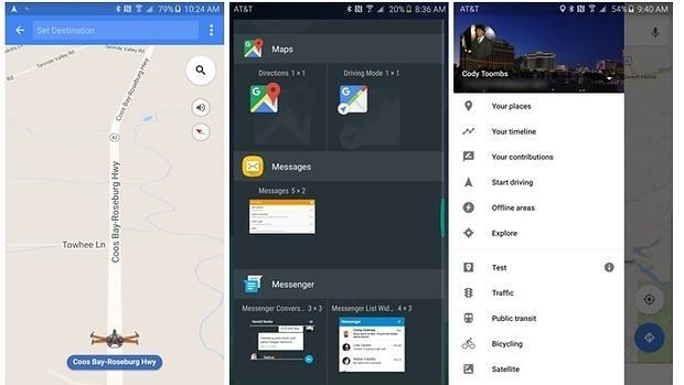 Captura de la nueva actualización de Google Maps