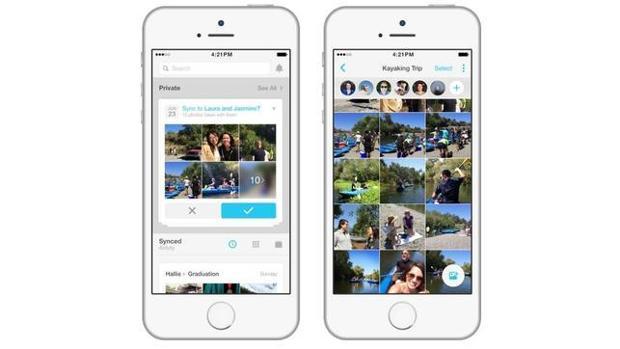 Vista de la aplicación Facebook Moments