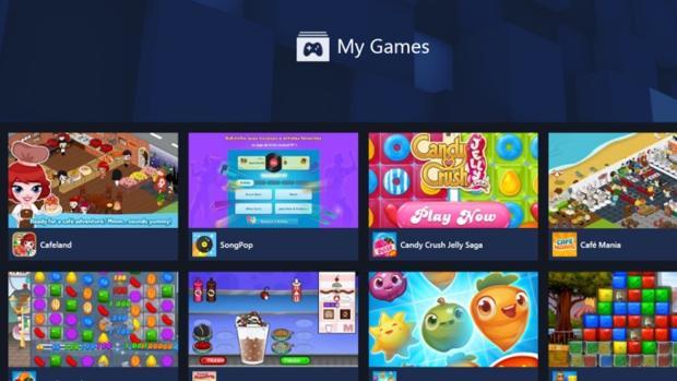 Captura de la plataforma de Facebook para los videojuegos