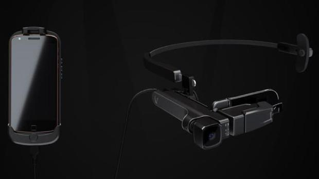 Detalle de las gafas de realidad aumentada