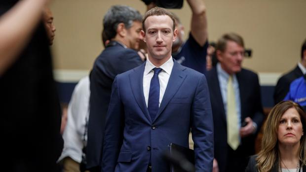Mark Zuckerberg, fundador de Facebook, durante su comparecencia en el Parlamento Europeo