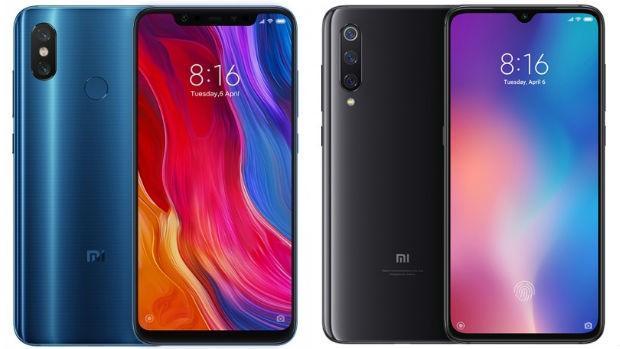 Xiaomi Mi 8 (izq.) y el Xiaomi Mi 9 (derecha)
