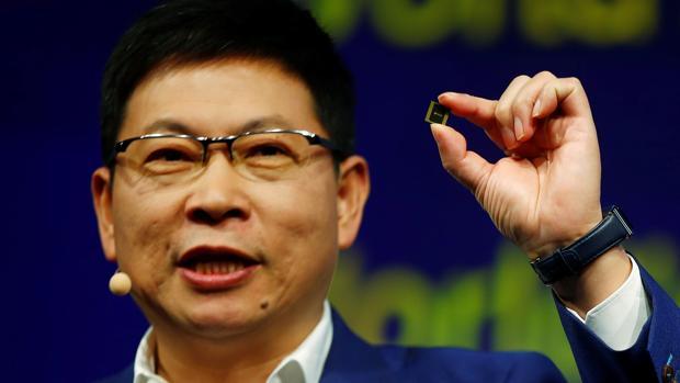 Richard Yu, presidente rotatorio de Huawei, durante su intervención en IFA