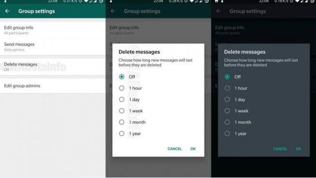 El truco para eliminar automáticamente los mensajes en WhatsApp