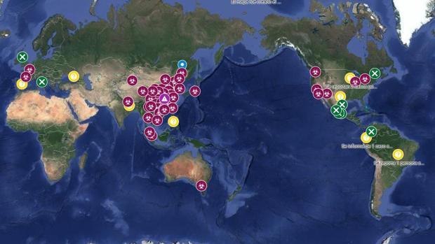 Así es el mapa de Google con toda la información que tienes que saber sobre el coronavirus