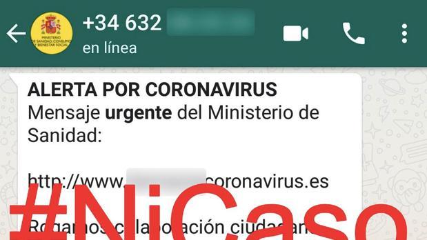 Si te llega este mensaje de WhatsApp sobre el coronavirus no lo abras