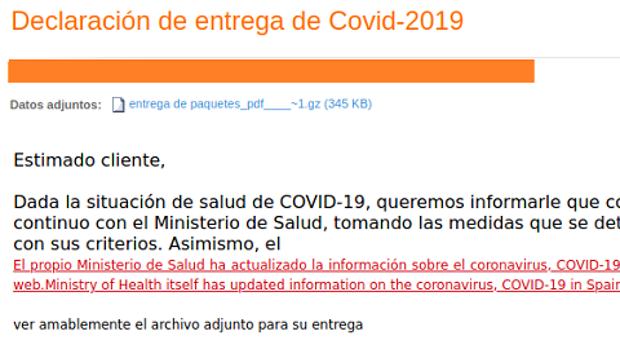 Cuidado: si recibes alguno de estos correos sobre el coronavirus te están intentando robar