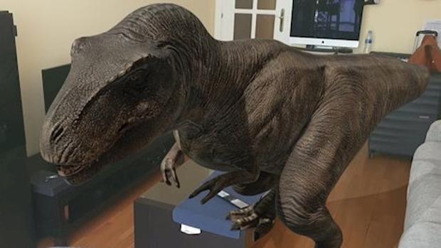 Cómo poner dinosaurios 3D en el salón de tu casa y sacarte fotos con ellos