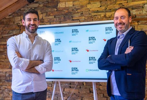 De izquierda a derecha, Fernando López, Chief Technology Officer, y Jacinto Pelayo, CEO de Evenbytes