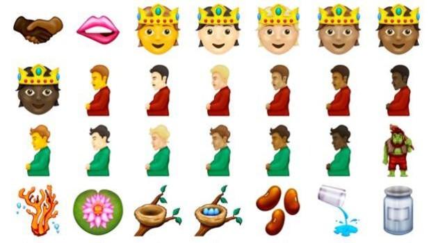 Desde hombres embarazados hasta trolls: los nuevos emojis que puedes estar utilizando en unos meses