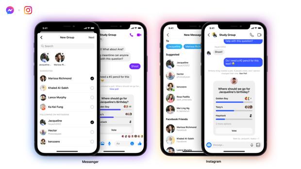 Facebook habilita los chats grupales entre Instagram y Messenger