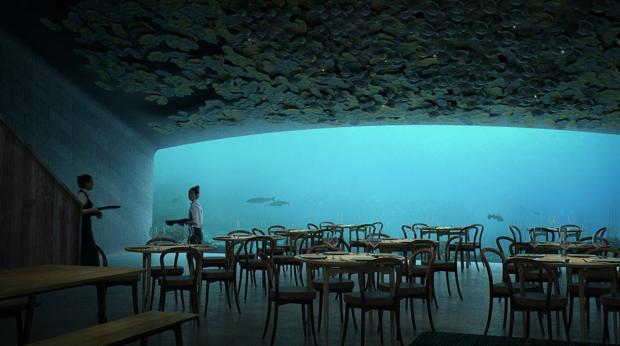 Resultado de imagen de restaurante under bajo el mar
