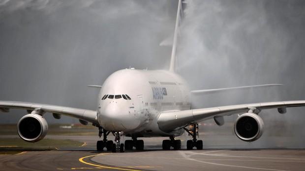 Un Airbus A380, en 2007