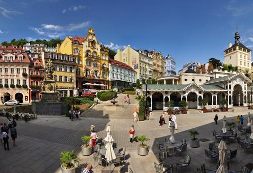 Una imagen de la ciudad balneario de Karlovy Vary
